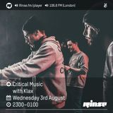 Critical Sound No.34 | Rinse FM | KLAX | 03.08.16