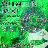 Mentha - Subaltern Radio 15/10/2015 on SUB.FM