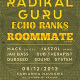 Jah Bass full set - RADIKAL GURU subconscious LP release gig + ECHO RANKS (UK) & ROOMMATE (USA)