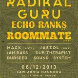 Jah Bass full set - RADIKAL GURU subconscious LP release gig + ECHO RANKS (UK) & ROOMMATE (USA)