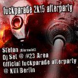 Stefan (Kierewiet) @ Official Fuckparade 2k15 afterparty #23 area in Kili