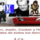 Jim Morrison, Jimmy Hendrix, Janis Joplin y Joe Cocker, 4 J´s Conduce Queen Elizabeth.