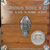 "VARIOUS SOUL # 25 - SOME ""A DIS ""N SOME ""A DAT for 2019"