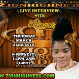 ABIONA LIVE INTERVIEW WITH DJ JAMMY ON ZIONHIGHNESS RADIO 032218