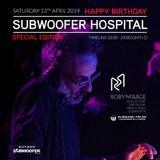Roby M Rage at Subwoofer Hospital April 2019 on CUEBASE-FM