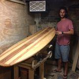Dumpster Diving shaper TJ Schuler of Submarine Surfboards