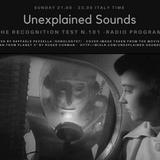 Unexplained Sounds - The Recognition Test # 101