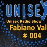 Unisex Radio Show #004 - Fabiano Valli - Milan, Italy