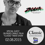 ▶ ZAGGIA ◀ RADIO CANALE ITALIA - Special Guest on CLASSIC Radio Show - 02.08.15