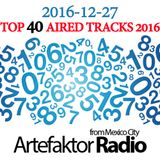 #SpecialShow Artefaktor Radio Top 40 most aired tracks in 2016