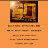 Sunset Dance 2012 11 03 - MixFM - Podcast 2 Hours