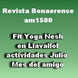 29-6-2017- Revista Bonaerense- Evento Mes de la amistad en Fit Yoga Nesh - Llavallol