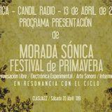 PODCAST - 13 04 2019 FESTIVAL MORADA SÓNICA PRIMAVERA