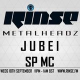 Jubei feat. SP:MC (Metalheadz, Razors Edge) @ Metalheadz Show, Rinse.fm 106.8 FM London (18.09.2013)