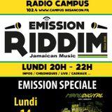 Emission RIDDIM 14 décembre 2015 spéciale MANUDIGITAL