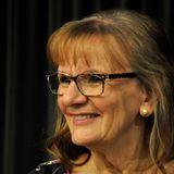 Författaren Aino Trosell föreläser om romanen Hjärtblad, 2014-09-17