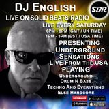 Dj English Presents Underground Sensations Live On Solid Beats Radio  27 - 01 - 18