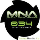 tooltech - dj set - MINIMAL NIGHT AFFAIRS 034 (jun18) - globalbeatsFM