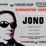 Jono - Subwoofer Hospital Cubase FM - 08th July 2017 - Techno mix
