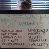 Gilles Peterson's Worldwide FM Top 10 – Best of November 2017