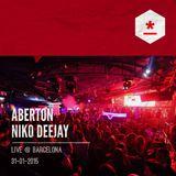 ABERTON - NIKO DEEJAY - Live @ Barcelona - 31-01-2015