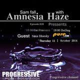 Sima Bluesky Guest Mix - Amnesia Haze 018[October 09 2014] on Pure.Fm