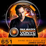Paul van Dyk's VONYC Sessions 651 - SHINE Ibiza Guest Mix from James Cottle