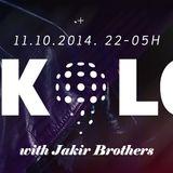 E! Nights pres. Disko Lom live / Jakir Brothers / 11.10.2014. @ Kameleon club