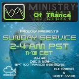 Uplifting Trance - Ministry of TRance Sunday service WK48 Dec 2 2018