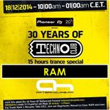18.12.2014 - 30 Years of Technoclub Special on Afterhours FM - RAM (19:00 - 21:00 CET)