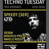 Speedy ( Lucky Light ) live at WIOYM - Techno Tuesday - 13. 10.2015