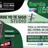 Verde yo te Sigo. programa del miércoles 15/6. Notas a Caruso/Ruiz/Pandolfi