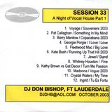 Session 33-A night of Vocals warming Up 10/2003