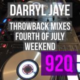 Darryl Jaye Throwback Radio Mixes 92Q Fourth of July Weekend 2017