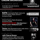 20-21h (GMT+1):KATO (Homeradio/radio host) pres. PrOmO-Factory Radio Show017 Exclusive Warm up DJset