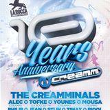 dj Tofke @ La Rocca - 10 Years Creamm 23-11-2013