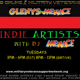 The Menace  3 hour Indie show is at it again with indie artists , new & old.  Ftd artist Phil Mitten