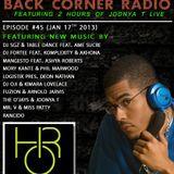 BACK CORNER RADIO: Episode #45 (Jan 17th 2013)