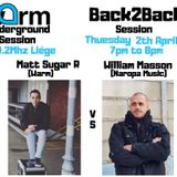 WARM UNDERGROUND SESSION PRESENTS WILLIAM MASSON B2B MATT SUGAR / 02 AVRIL 2019