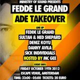 Fedde Le Grand - Live @ Takeover, Escape Venue, Amsterdam Dance Event, Amsterdão, Holanda (19.10.201