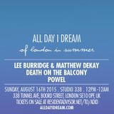 Lee Burridge - Live at All Day I Dream Of London in Summer, Studio 338, London (16-08-2015)