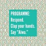 "Programme: Respond, Clap your hands, Say ""Aiwa"" - V&A Friday Late Set Part I"