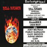 Ramirez (Live PA) / Judge Dredd @ Hellraiser 8 - Ulster Hall Belfast - 31.07.1993
