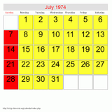 A month in a life - July 1974