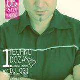 Ervin Mandari @ Techno Doza 1st Anniversary w/ DJ Ogi, Salvador Dali (SB), 21.03.2014.