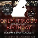 Only1FM.com 5 year Anniversary - GUEST SPOT .... w DJ Kemetik