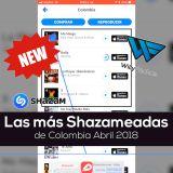 Las más Shazameadas de Colombia, Abril 2018