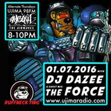 Dazee Presents The Ruffneck Ting Take Over 07.01.2016 with Guest Mixes From The Force And d8a