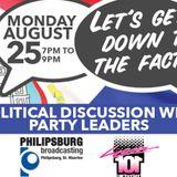 POLITICAL DEBATE AUGUST 26TH 2014