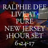 RALPHIE DEE LIVE AT PURE NEW JERSEY 6-24-17